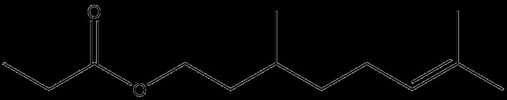 Molécula de propionato de Citronellilo
